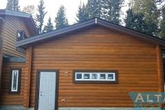 Log Wood Exterior Garage Adition Rear