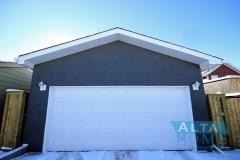 Stucco Garage